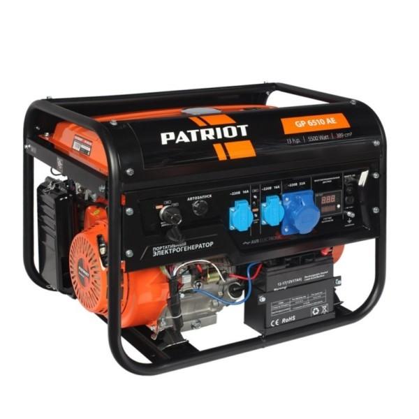Генератор бензиновый PATRIOT GP 6510АE арт.474101570