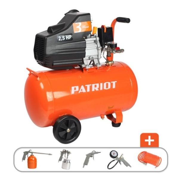 Компрессор PATRIOT EURO 50-260K + набор пневмоинструмента KIT 5В 1.8 кВт арт. 525306316