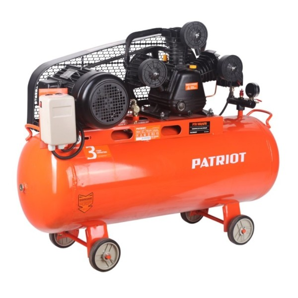 Компрессор PATRIOT PTR 100-670, 380В, 3 кВт арт. 525306330