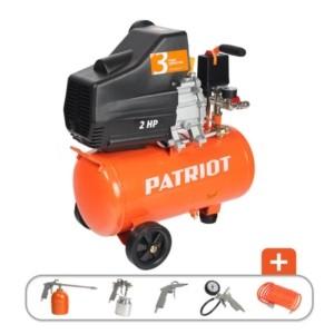 Компрессор PATRIOT EURO 24-240K + набор пневмоинструмента KIT 5В арт.525306366