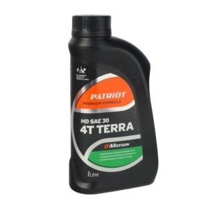 Масло минеральное PATRIOT G-Motion HD SAE 30 4Т TERRA 1л арт. 850030400