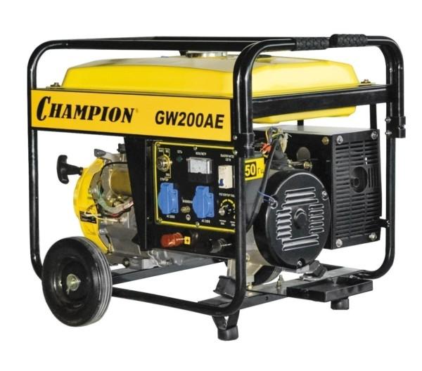 Генератор бензиновый сварочный CHAMPION GW200AE