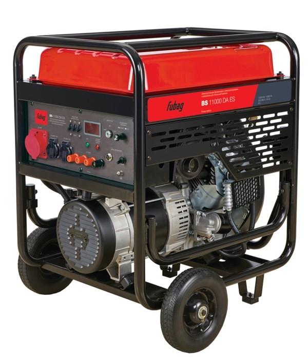 Бензиновый генератор FUBAG  с электростартером и коннектором автоматики BS 11000 DA ES